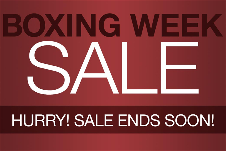 Boxing Day Week Sale!!!